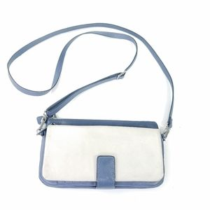 Levenger leather crossbody wallet/ small bag